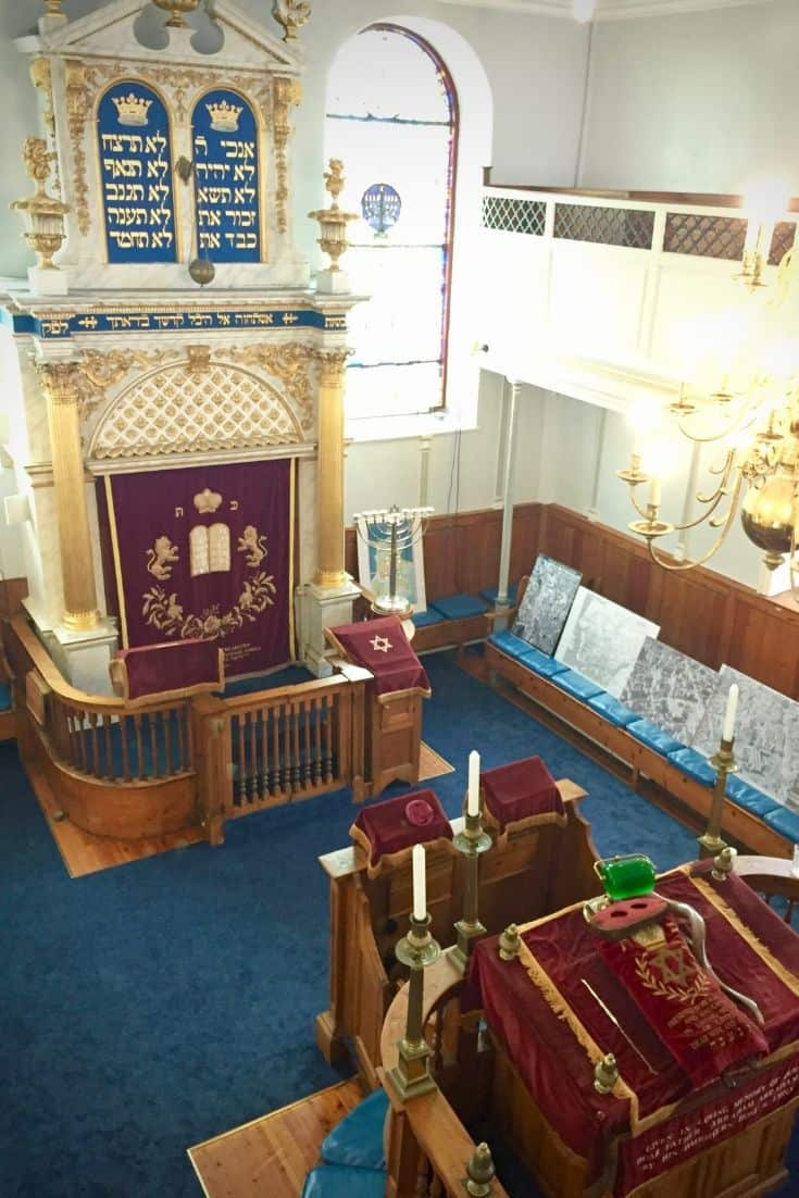 Plymouth Synagogue interior.