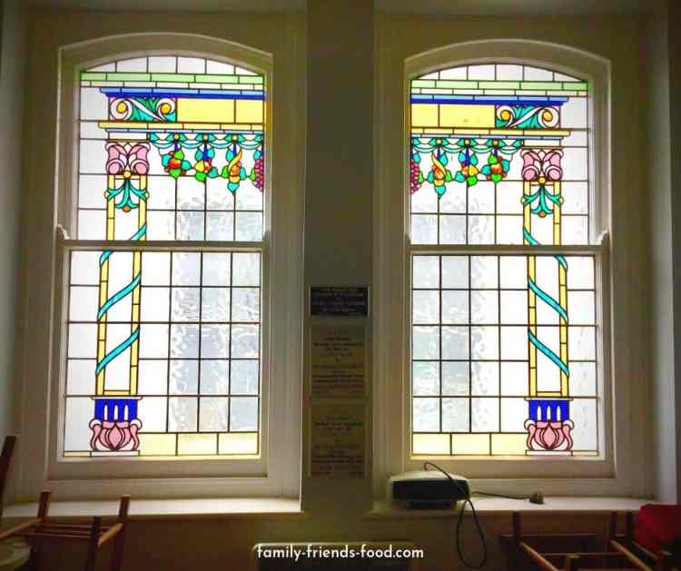 Plymouth synagogue succah window.