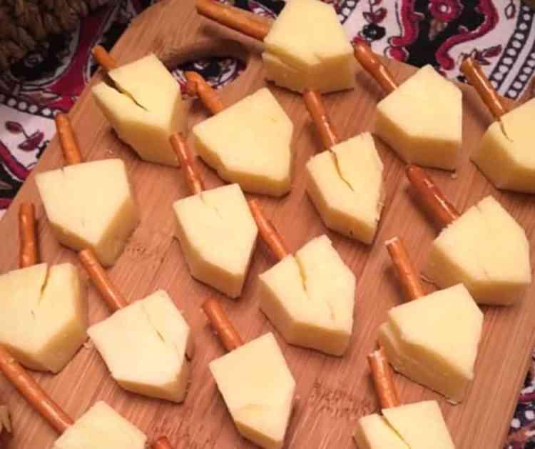 cheese dreidels.