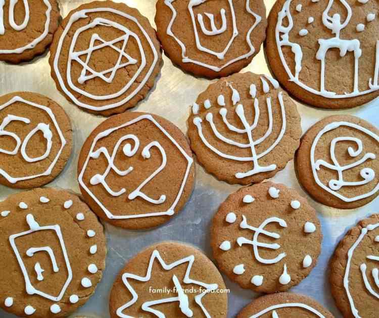 Gingerbread Chanukah gelt.