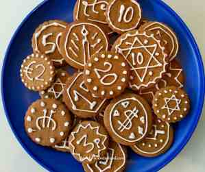 Gingerbread Chanukah gelt.