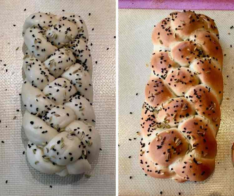 vegan challah in one hour.