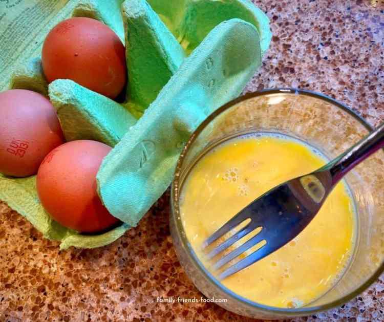 eggs for scrambling.