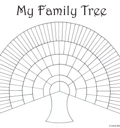 big family tree chart for kids to print and color [ 2487 x 1969 Pixel ]
