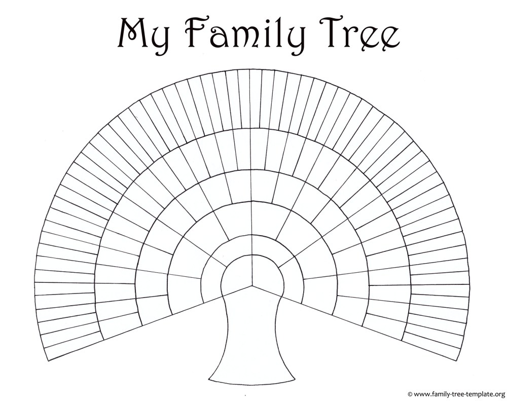 medium resolution of big family tree chart for kids to print and color