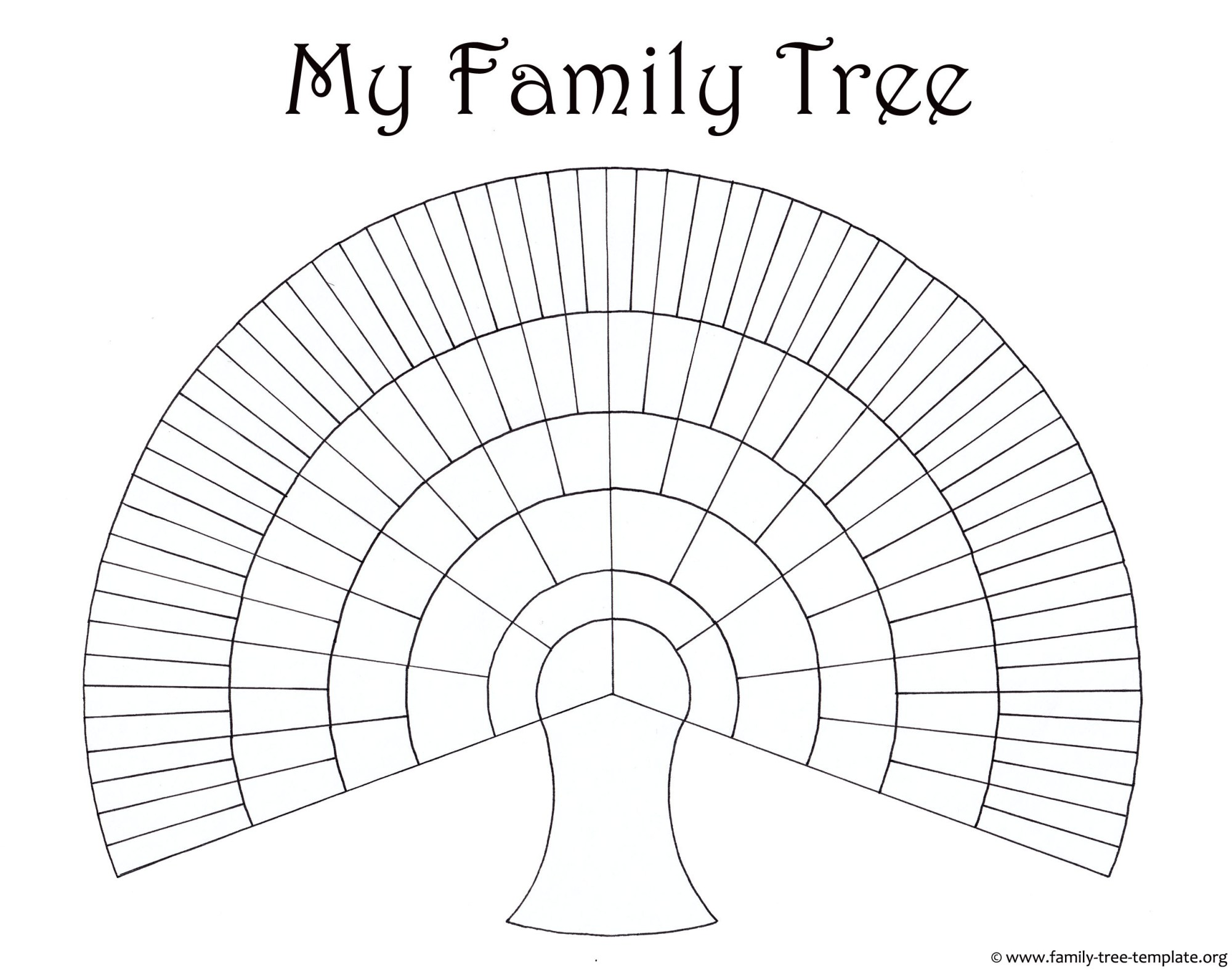 hight resolution of big family tree chart for kids to print and color