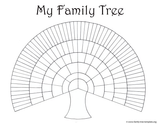 small resolution of big family tree chart for kids to print and color