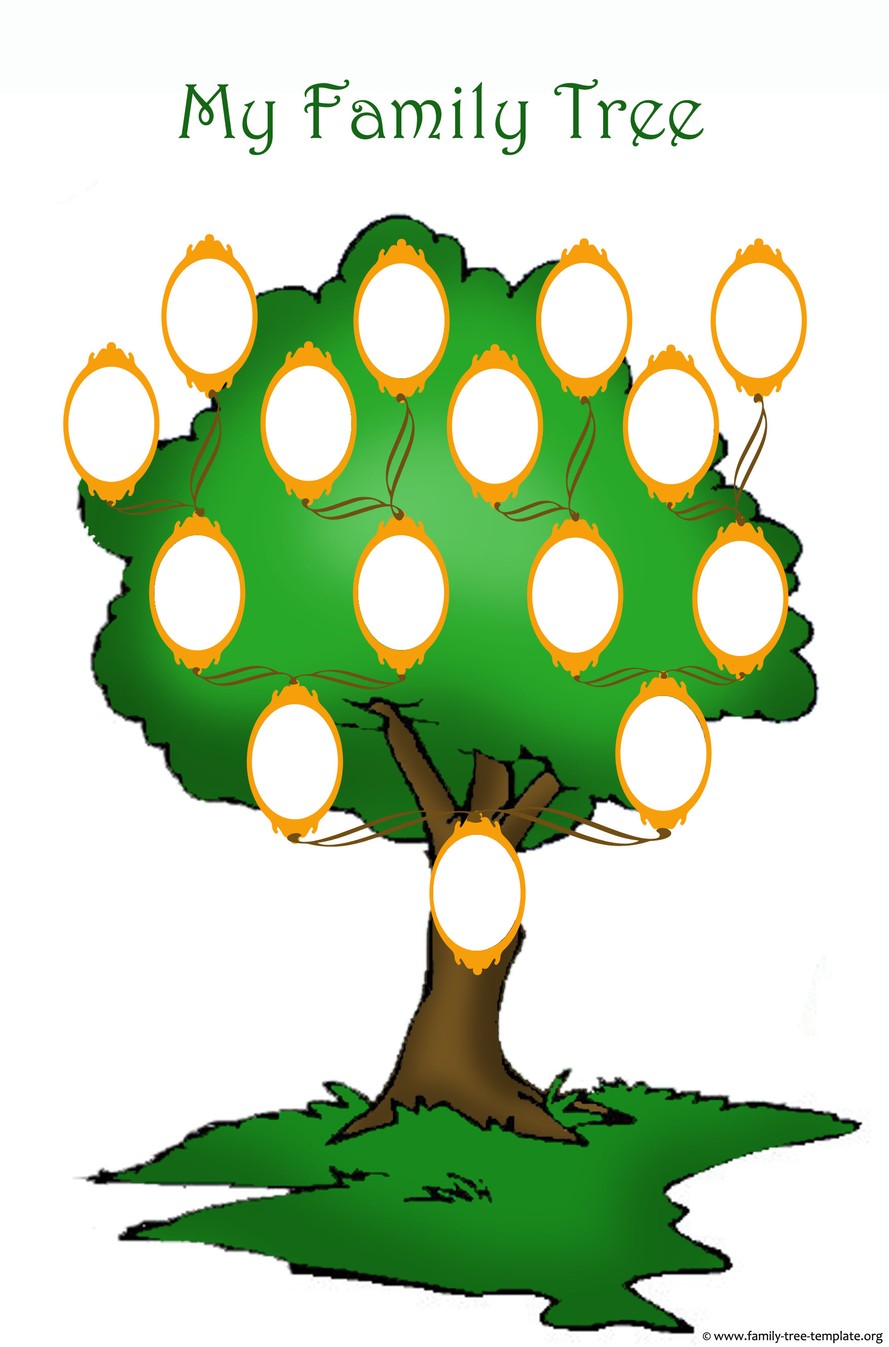 Simple Family Tree Template Clip Art Cliparts