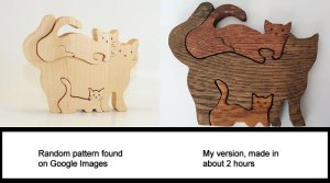 scrollsaw cat puzzle