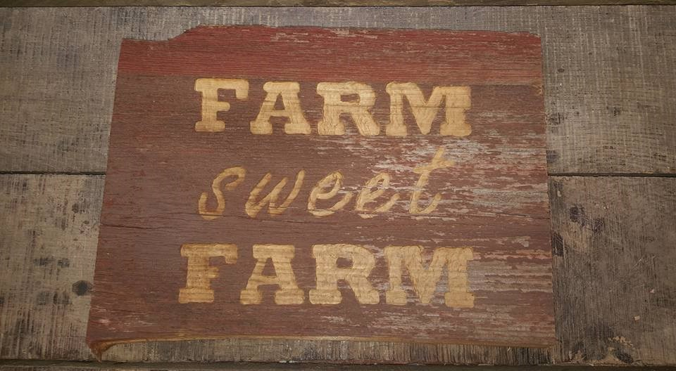 Hand Carved Reclaimed Barn Wood Sign