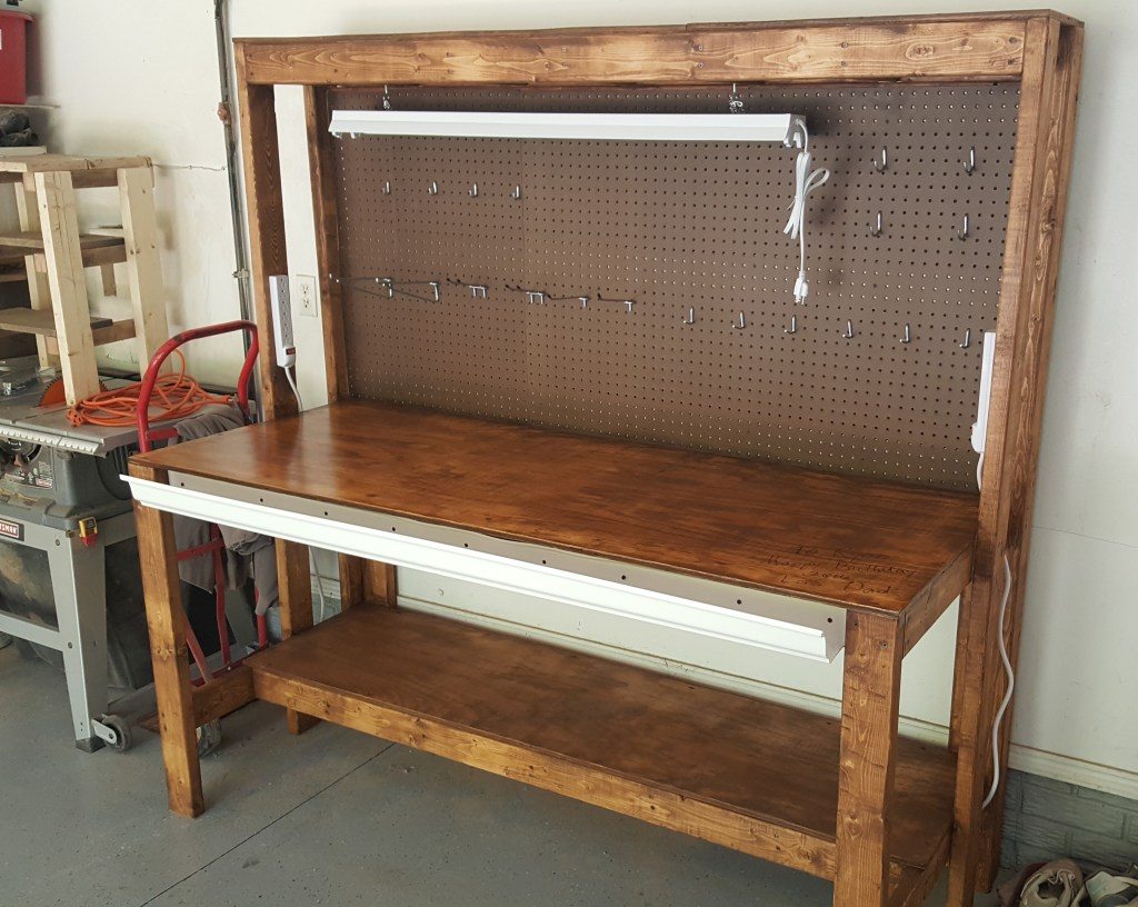 diy garage work bench plans