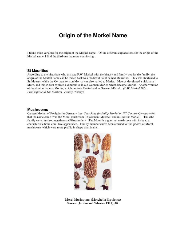 thumbnail of Origin of the Family Name