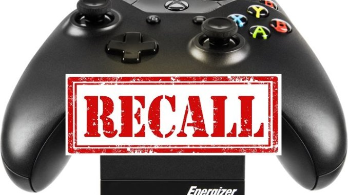 Battery Chargers for XBOX ONE Recalled