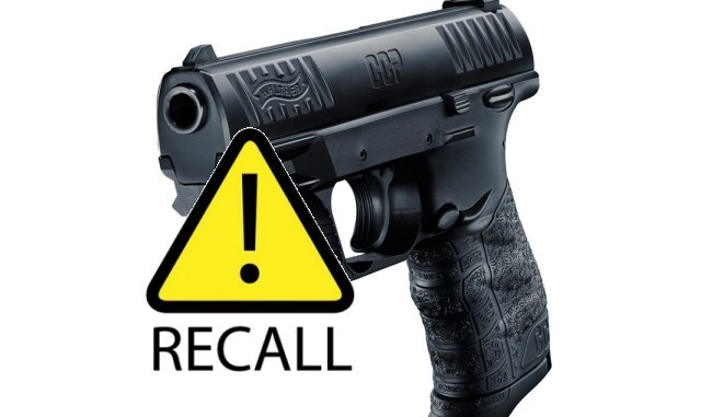 Walther CCP Pistols recalled