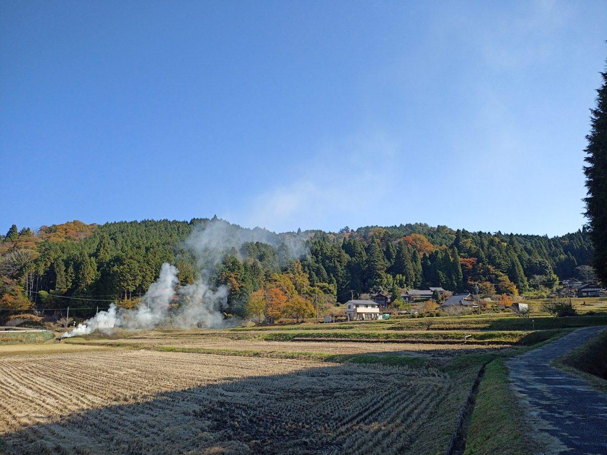 岩村 富田地区の農村風景