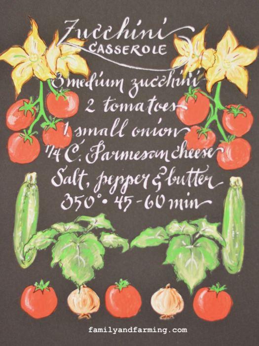 Illustrated Zucchini Casserole