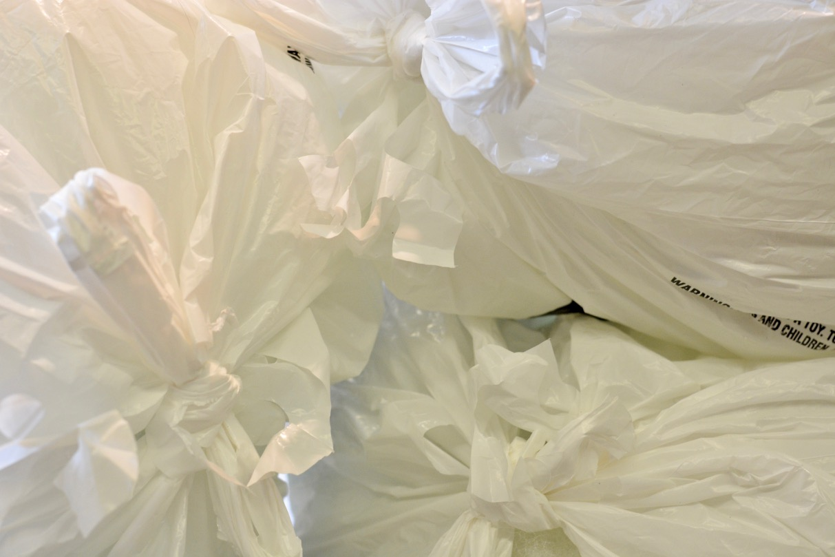 A pile of plastic bags
