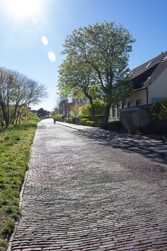 Leere Strassen auf Wangerooge-Kurzurlaub