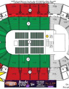 View full seating chart also jinglefest rh familyarena