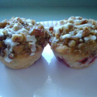 Strawberry Muffins with Streusel Topping
