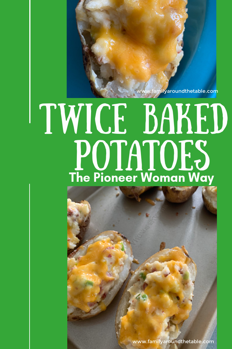 Twice baked potatoes Pinterest image.