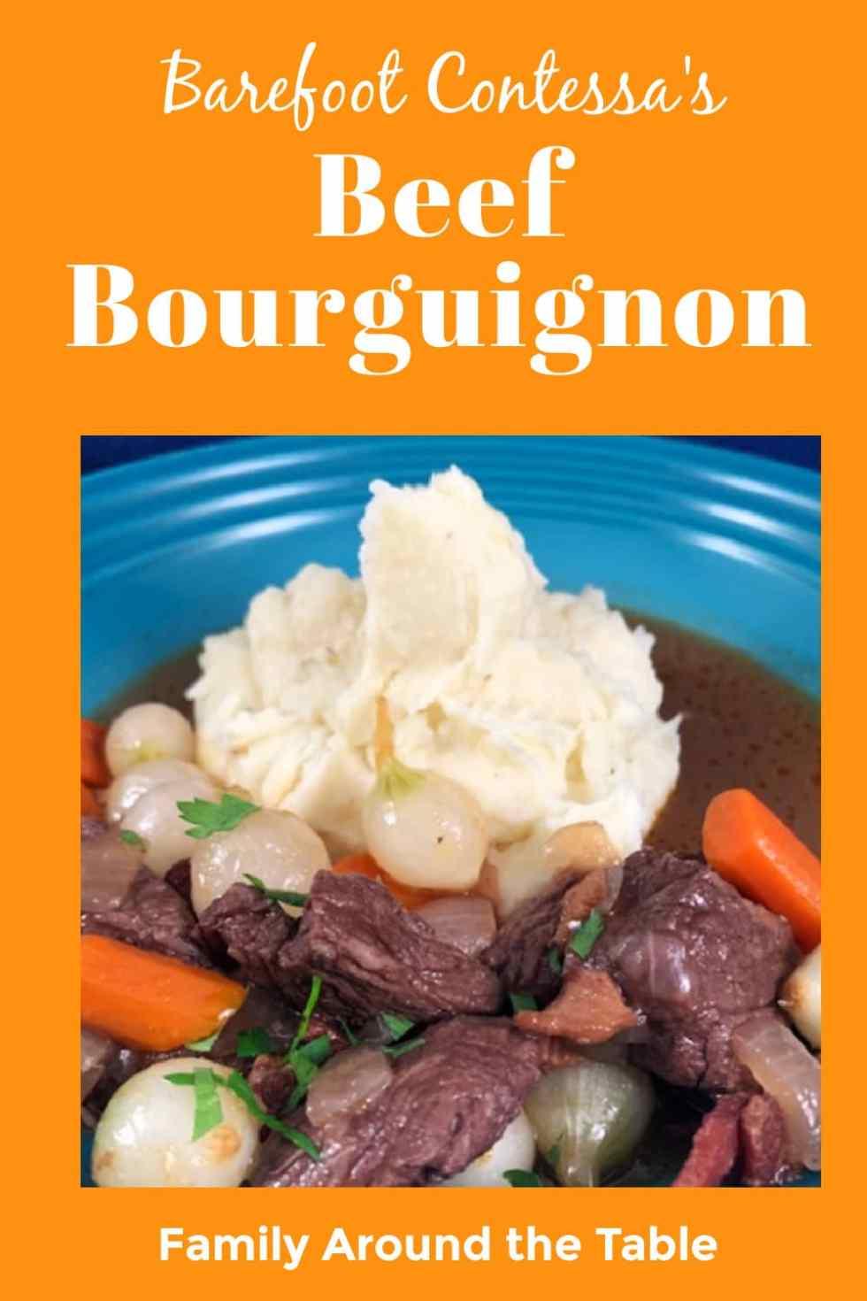 Beef Bourguignon Pinterest Image
