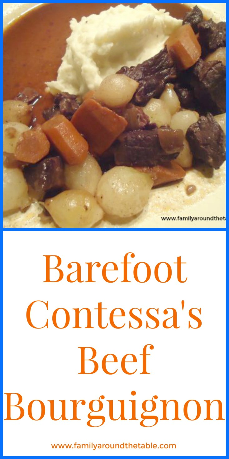 Beef bourguignon from The Barefoot Contessa is a hearty stew perfect for cool weather.