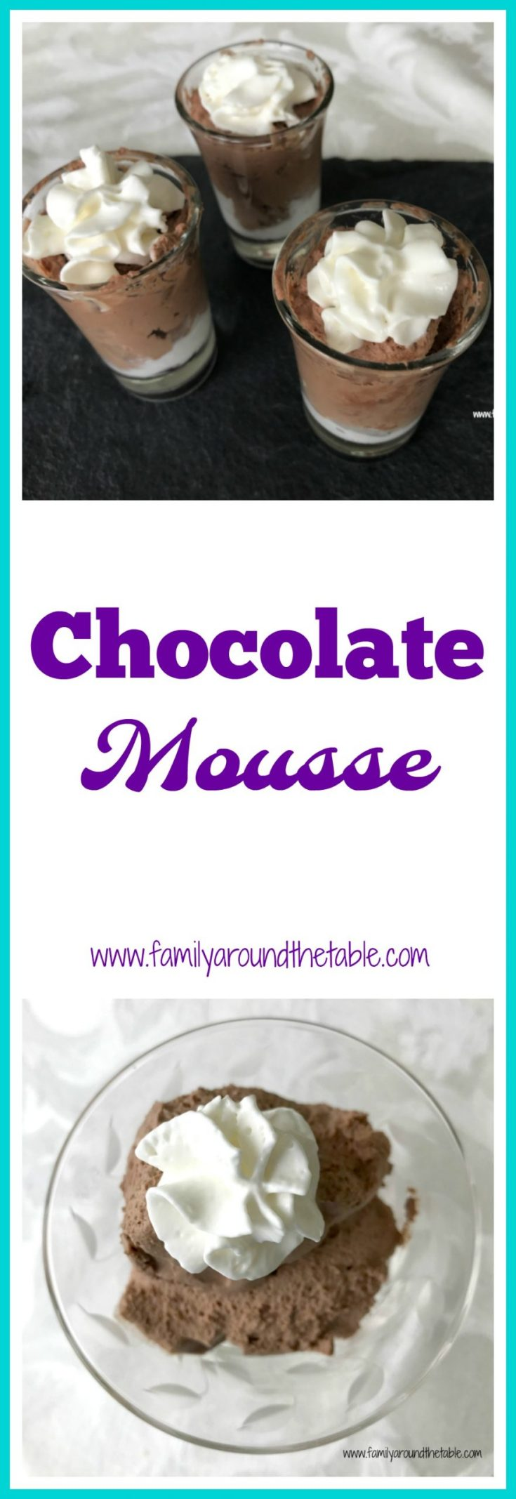 Chocolate mousse is perfect for entertaining. Serve in shot glasses for a dessert buffet.Chocolate mousse is perfect for entertaining. Serve in shot glasses for a dessert buffet.