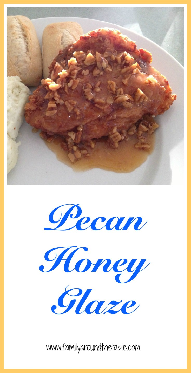 Pecan honey glaze takes fried chicken to the next level.