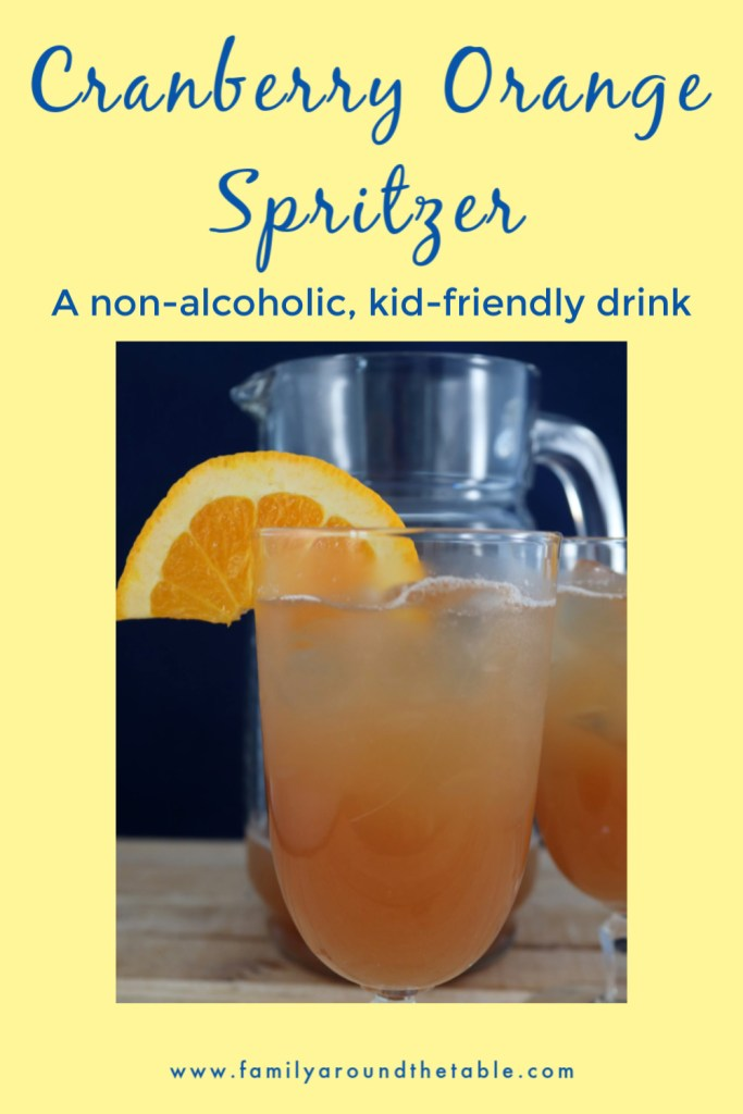 Cranberry Orange Spritzer Pinterest image
