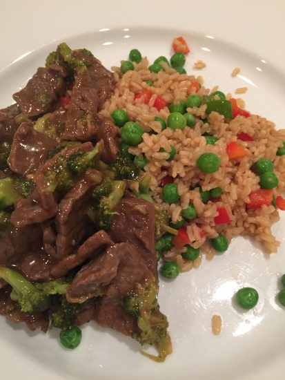 Beef and Broccoli with Fried rice
