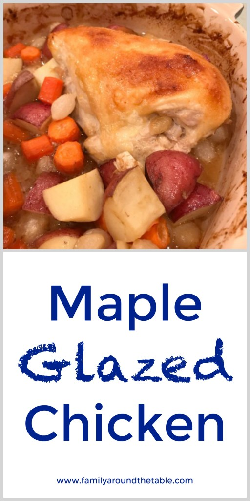 Maple glazed chicken and vegetables is an easy one pan meal perfect for any night of the week.