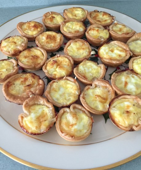Mini Swiss Quiches are a great appetizer for any party.