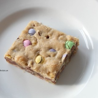 Easter M&M's Chocolate Chip Cookie Bars