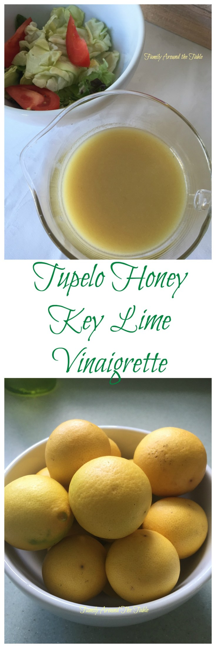 Tupelo Honey Key Lime Vinaigrette is a flavorful salad dressing or marinade.