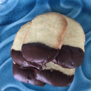 Chocolate-Dipped Orange Cookies