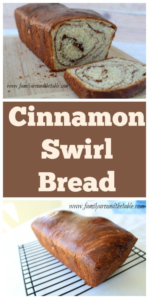 Homemade cinnamon swirl bread for breakfast!
