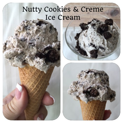 nutty cookies and cream ice cream