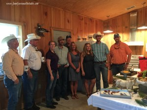 The Whitehurst Family with representatives from Florida Beef Council