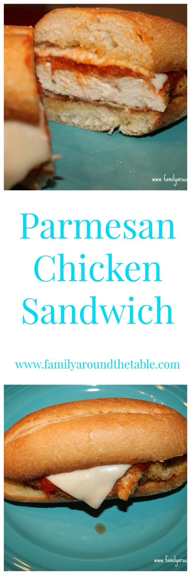 These Parmesan Chicken Sandwiches are a quick weeknight dinner or weekend lunch.