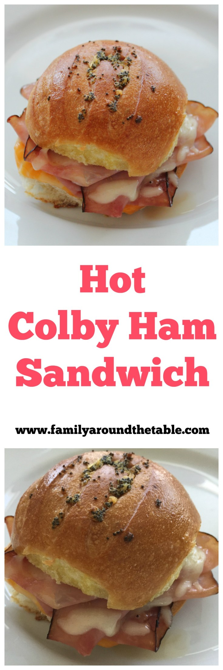 Hot Colby Ham Sandwiches are an easy weekend lunch or weeknight dinner.