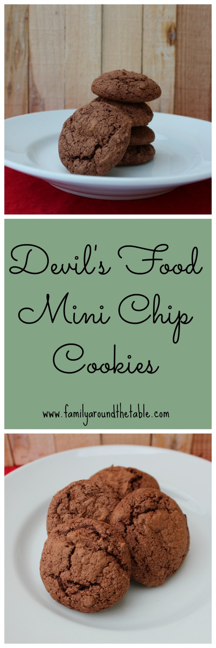 Devil's Food Mini Chip Cookies start with a mix!