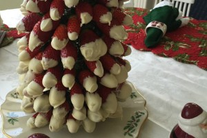Snow Capped White Chocolate Strawberry Tree