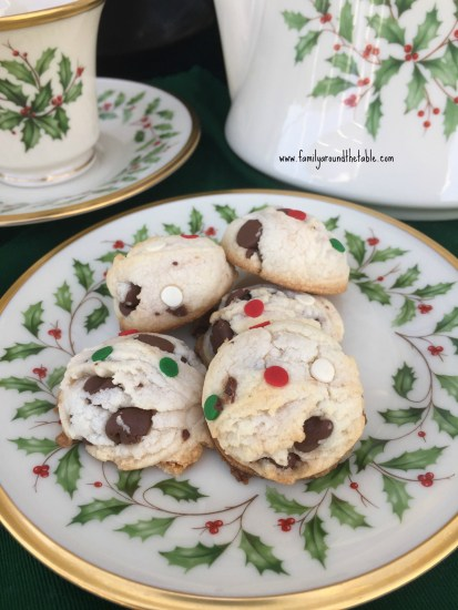 Festive cookies are lovely on a holiday dessert table.