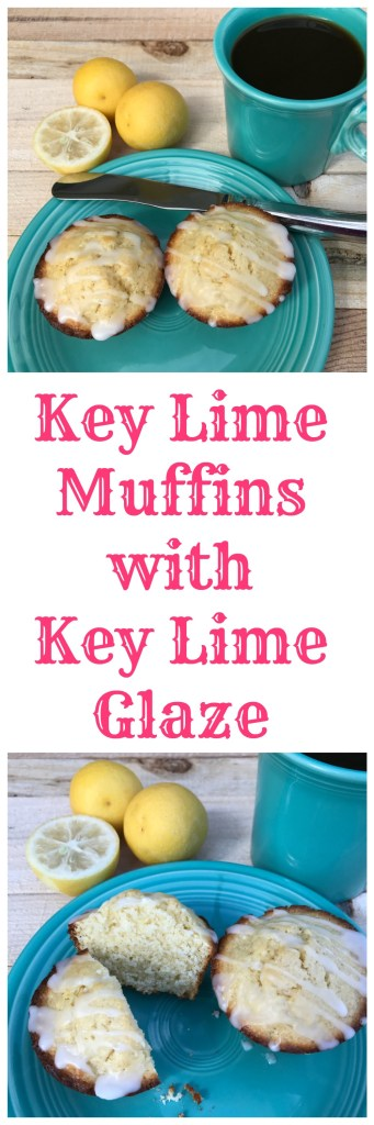 Key lime muffins with key lime glaze start the day off right.