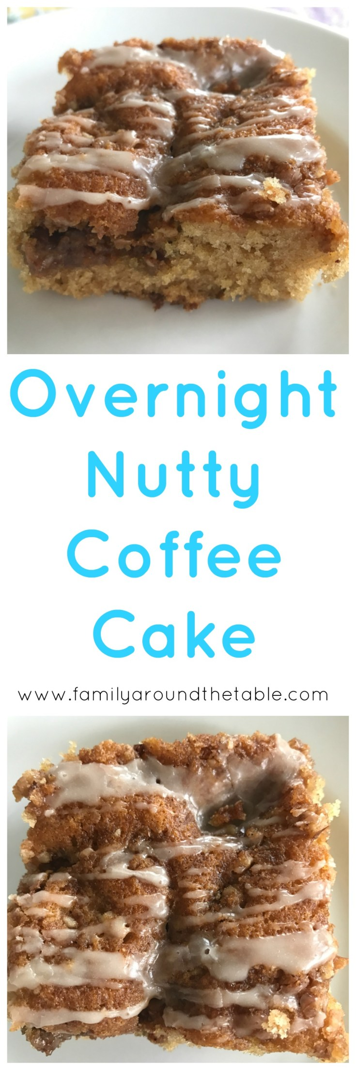 Overnight nutty coffee cake is perfect for overnight guest.