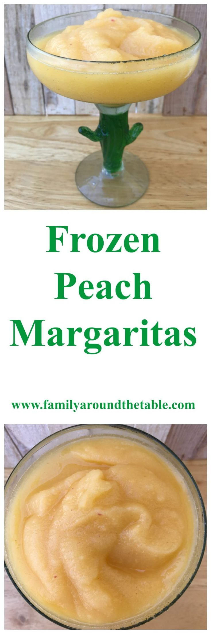 Frozen peach margaritas will cool you off on any hot summer day.