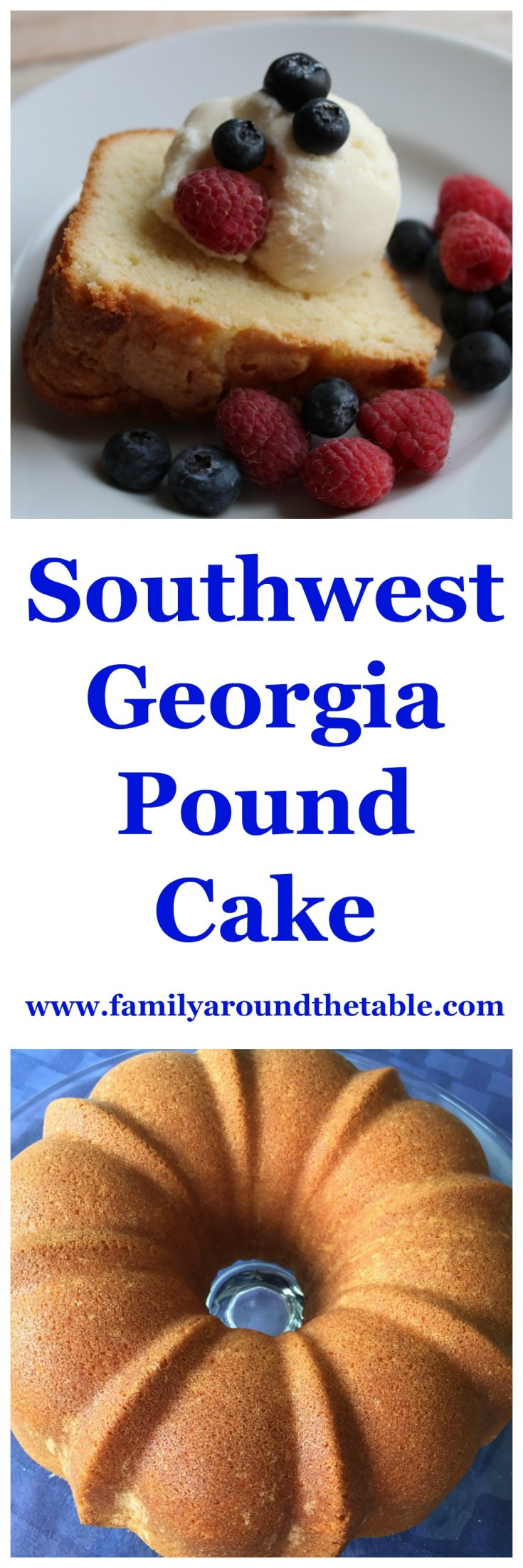This Southwest Georgia Pound Cake was my Mom's recipe. They are the best.