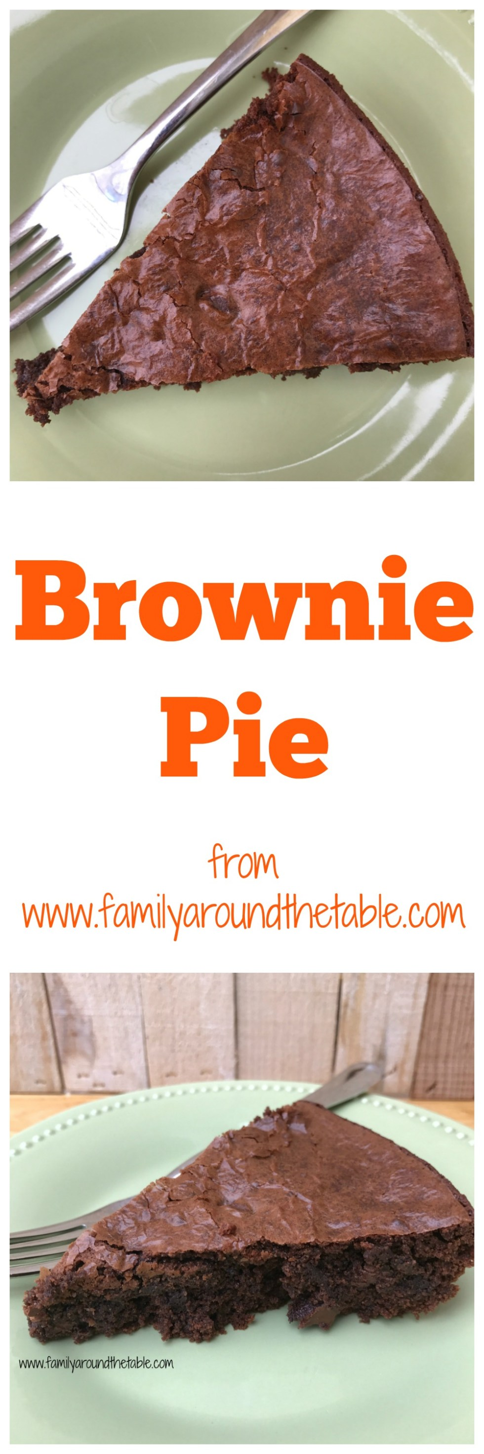 Brownie pie travels easy meaning it's perfect for potlucks.