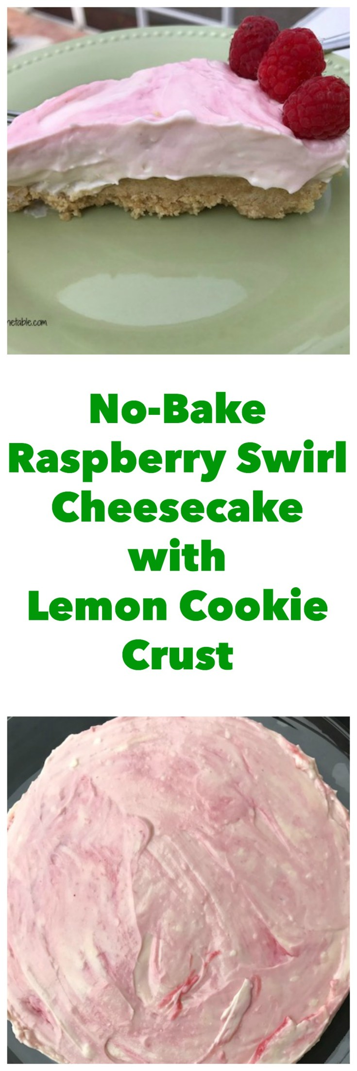 Enjoy lemony flavor paired with raspberry paired in this no-bake cheesecake made with products from Sprouts Farmer's Market